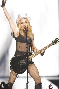Madonna performs her Sticky and Sweet tour in Toronto